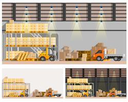 Set di composizioni di magazzino