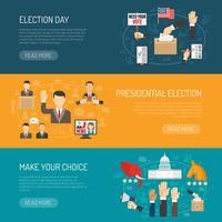 Banner di elezioni orizzontali