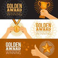 Set di banner di premi vettore