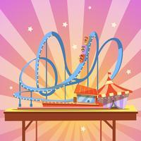 Cartone animato parco divertimenti vettore