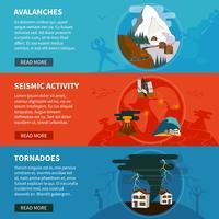 Insegne orizzontali di disastri naturali