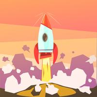 Illustrazione del lancio del razzo