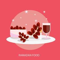 Progettazione concettuale dell'illustrazione dell'alimento di Ramadhan