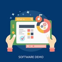 Progettazione dell'illustrazione concettuale della dimostrazione del software vettore