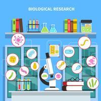 Illustrazione di concetto di microbiologia vettore