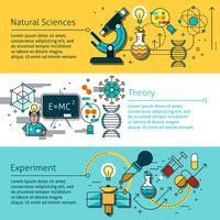 Set di banner di linea di scienza