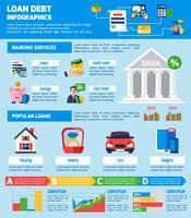 Layout di infographics debito prestito
