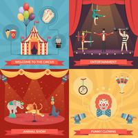 Circo Show 2x2 Design Concept vettore