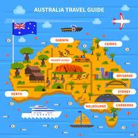 Illustrazione della guida di viaggio dell'Australia vettore