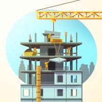 Cartone animato di costruzione retrò