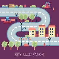 Banner piatto astratto di City Street Schema vettore