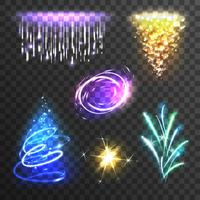 Set di effetti di luce vettore