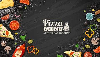 Fondo della lavagna del menu della pizza