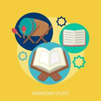 Progettazione concettuale dell'illustrazione di studio di Ramadhan