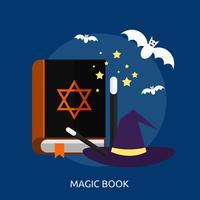 Disegno concettuale dell'illustrazione del libro magico vettore