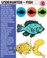 Pesci, specie di pesci - vita subacquea, vettore di ENV