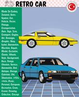 Automobile, retro automobile, storie dell'automobile, ENV, vettore