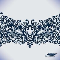 Campionessa di carnevale, maschera veneziana, modello di cornice femminile per la carta. vettore