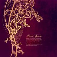 Carta d'epoca su sfondo grunge. Design del telaio modello per carta.