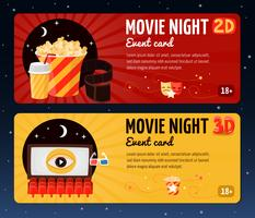 Banner notturno di Movie Night