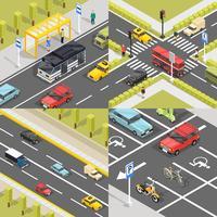 Bandiere del quadrato del traffico cittadino vettore