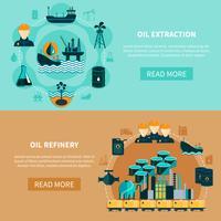 Set di banner di trasporto di petrolio vettore