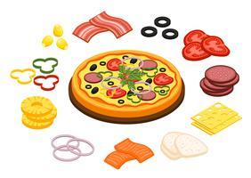 cucinare il concetto di pizza