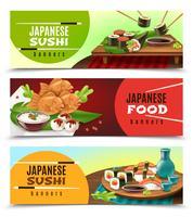 Banner cibo giapponese vettore