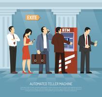 Illustrazione piana dei soldi di bancomat