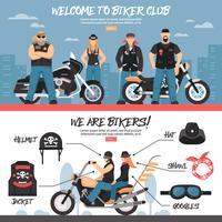 Set di banner del Biker Club vettore