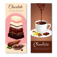Set di banner verticale di cioccolato vettore