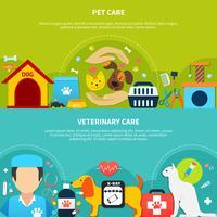 Banner per la cura degli animali domestici vettore