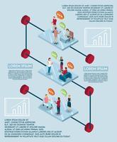 Concetto di infografica di discorso elettronico vettore