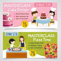 Set di banner di masterclass di cucina