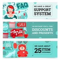 Set di banner del negozio online