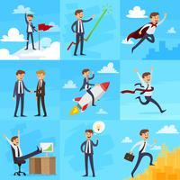 Set di icone di crescita di carriera