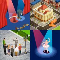 Set isometrico Teatro 2x2