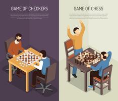 Set di Banner verticale di giochi da tavolo
