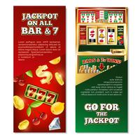 Banner verticale di slot machine