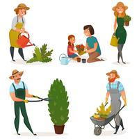Set di icone di giardinaggio Hobby
