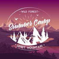 Manifesto pubblicitario di viaggio del campo estivo