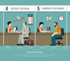 Illustrazione di banca piatta