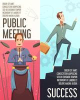 Set di banner di riunione d'affari vettore