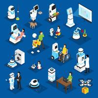Set isometrico di robot