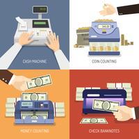 Concetto di design della banca vettore