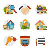 Set di icone del bene immobile