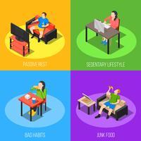 Concetto di design di stile di vita sedentario