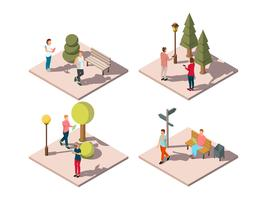 Gadget Urban Park Composition vettore