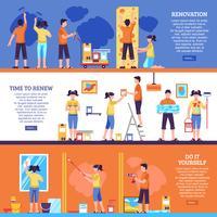 Set di banner di miglioramento domestico