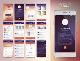 Modelli di applicazioni per smartphone vettore